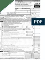 MGF 990 form 2007