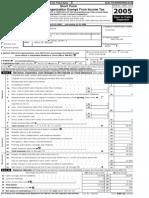 MGF 990 form 2005