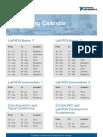 NI Training Program Schedule, July-Sep 09