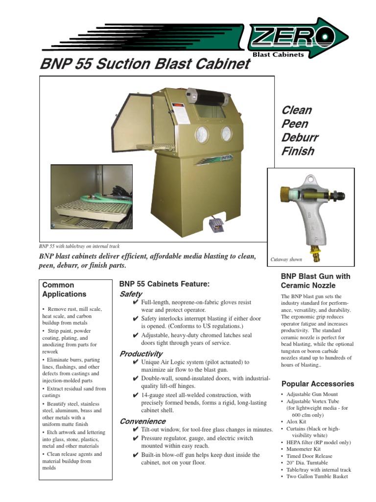 BNP55S Zero Blast Cabinet | Manmade Materials | Industries