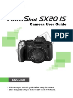Canon Sx 20is User Guide