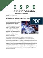 Aplicaciones de La Mecatronica en a Industria