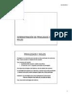 Administracion Privilegios Roles