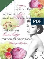 1 Audrey Poster