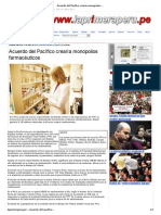 3013-05-15_Acuerdo del Pacífico crearía monopolios farmacéuticos