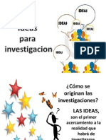 10. Ideas Para Investigacion