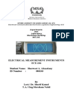 Electrical Measurement & Instruments
