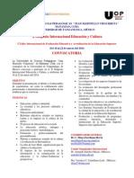Convocatoria X SIMPOSIO INTERNACIONAL EDUCACIO¦üN Y CULTURA