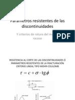 3 - Parametros Resistentes de Las Discontinuidades y Macizo