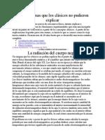 FISICA CUANTICA I - Los problemas que los clásicos no pudieron explicar