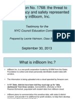 InBloom Presentation Updated 9.30.13