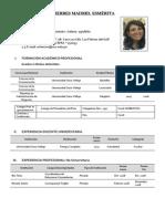 Currículum Mery 2013