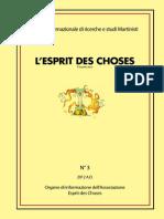 L'Esprit Des Choses n. 3 2012