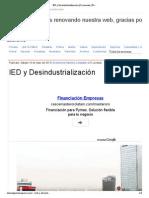 2013-05-18 IED y Desindustrialización