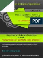 1.3 - Comunicacion y Conflicto Entre Procesos