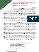 Programa Da Missa de S. Bento