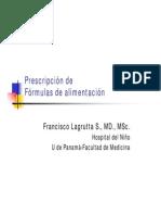 Prescripción de fórmulas