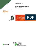 Fusibles SOLEFUS FUSARC Merlin Gerin