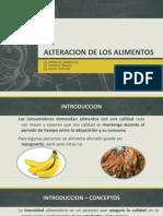 Alteracion de Los Alimentos