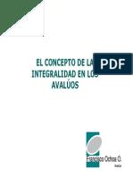 Presentacion El Concepto de La Integralidad en Los Avaluos