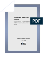 HIMSS EHR Usability Task Force Report on Defining and Testing EMR Usability