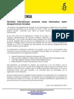 Mesa Informativa Sobre Desapariciones Forzadas