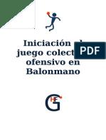 Balonmano-Iniciacion Al Juego Colectivo Ofensivo