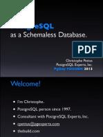 PostgreSQL as a NoSQL database