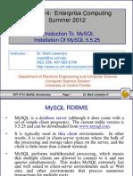 mysql 5.5.25 用户安装备忘
