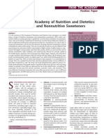 Position of the Academy of Nutrition and Dietetics Use of Nutritive and Nonnutritive Sweeteners