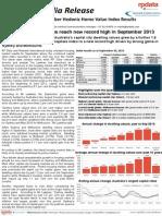 RP Data Rismark Home Value Index 1 October 2013 FINAL