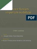 Lietuva Rusijos imperijos sudėtyje