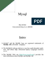 MySQL - Università di Enna A.A. 2005-06