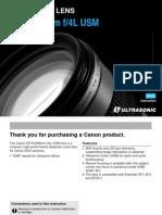 Canon EF 70 200mm f 4.0 L USM Lens