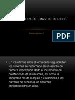 Seguridad en Sistemas Distribuidos