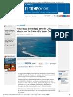 Nicaragua denunció ante la ONU 'desacato' por parte de Colombia - Noticias de Latinoamérica - Mundo - ELTIEMPO