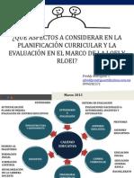 Planificacion Curricular y Evaluacion