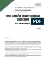 evalucion institucional 2008-2009 SECTOR2