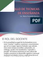 DESRROLLO DE TECNICAS DE ENSEÑANZA