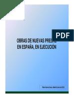 OBRAS DE NUEVAS PRESAS EN ESPAÑA 2012