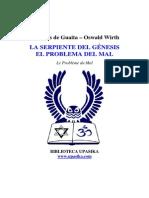 119611237 Stanislas de Guaita Problema Del Mal