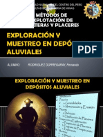 EXPLORACIÓN Y MUESTREO EN DEPÓSITOS ALUVIALES