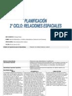Planificación 2° ciclo Relaciones espaciales
