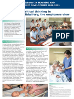 Critical Thinking in Nursing and Midwifery; The Employers View