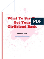 What to Say to Get Your Girlfriend Back