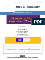 Research Updates-Homeopathy. Volume 2 Issue 9