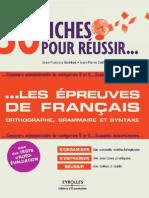30 Fiches Pour Reussir Les Epreuves Du Francais.eyrolles