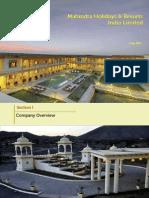 Mahindra Holidays Investor Presentation July 2013