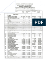 List of Multimedia Cbt Packages Developed by Npti