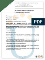 Act No. 10. Mercadero y Servicio Trabajo Colaborativo No 2